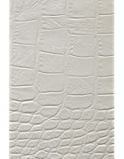 Journal: 120 Blank Lined Pages, 6x9 College Ruled Notebooks and Journals, White Crocodile Leather style paperback | Designer Journal, Diary, Notebook