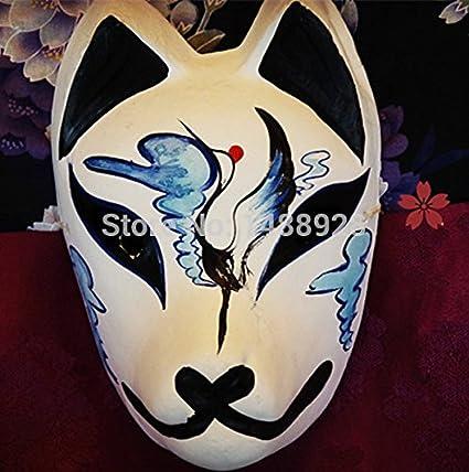 2015 – Original pintada a mano japonés Estilo de dibujos animados Ecológico yeso Fox máscara para