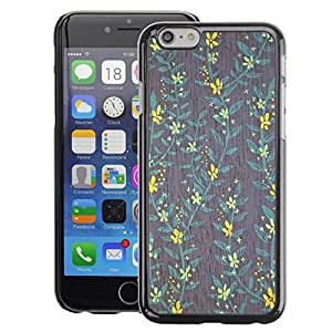Planetar® ( Wallpaper Yellow Teal Grey Green ) Apple iPhone 6 / 6S (4.7 inches!!!) Fundas Cover Cubre Hard Case Cover