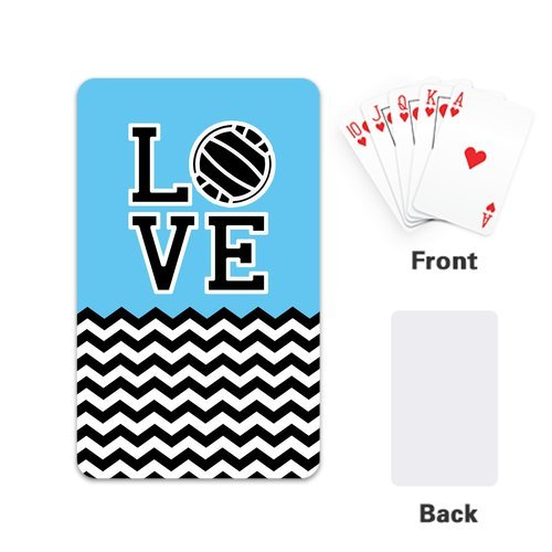 """Fashion Infinity Love Volleyball Personalized Playing Cards Design With Single Side 2.1""""x 3.5"""""""