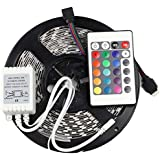 Mufasa® 5050 WATERPROOF LED STRIP RGB MULTICOLORED WITH REMOTE AND ADAPTER