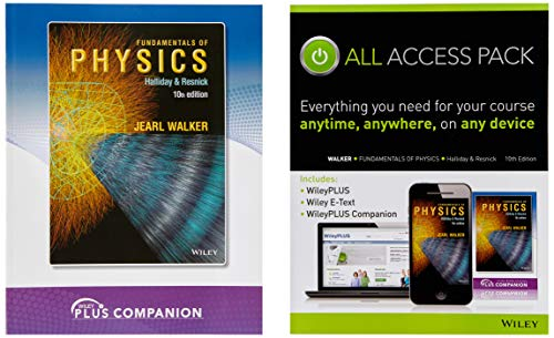 (Fundamentals of Physics Extended Tenth Edition All Access Pack with WileyPlus Blackboard Card)