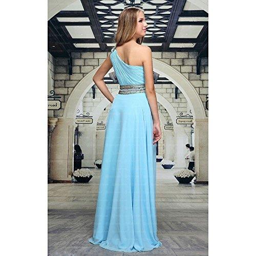 Ital Für Maxi Design Festamo bei Kleid Damen Chiffon Ball Hellblau gvI06