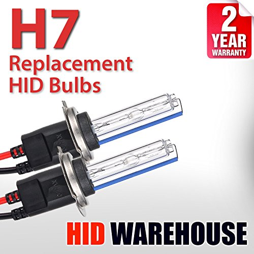 HID-Warehouse AC HID Xenon Replacement Bulbs - H7 8000K - Medium Blue (1 Pair) - 2 Year Warranty (Metal Base)