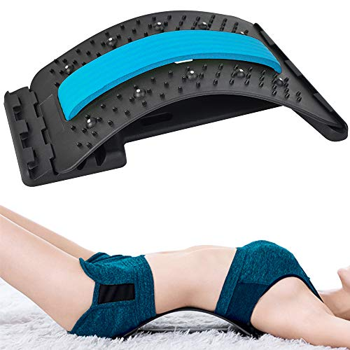 Rückenmassagegerät, Bett-und Office Chair Rückenmassagegerät, zur Mehrschichtigen Lordosenstütze der Wirbelsäule (Grün)