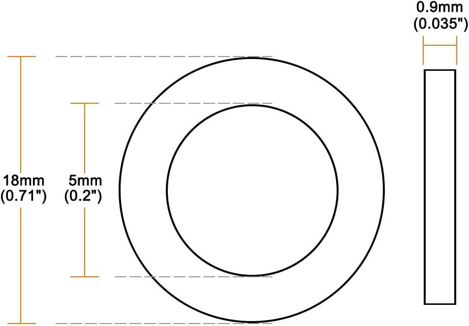 Sourcing map Lot de 50 rondelles plates en nylon pour vis et boulons Blanc