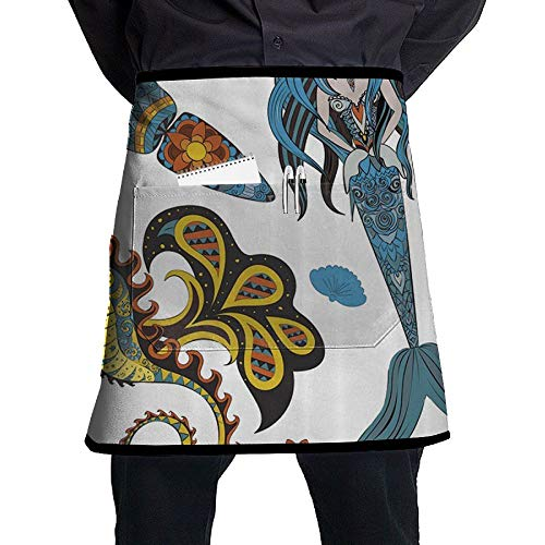 GHDSKH Mermaid Seahorses and Kalmar Waist Aprons Commercial for sale  Delivered anywhere in USA