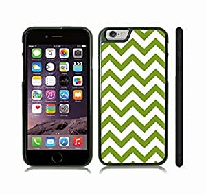 Case Cover For LG G2 with Chevron Pattern Green/ White Stripe Snap-on Cover, Hard Carrying Case (Black)