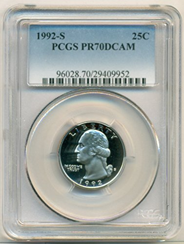 1992 S Washington Clad Proof Quarter PR70 DCAM PCGS