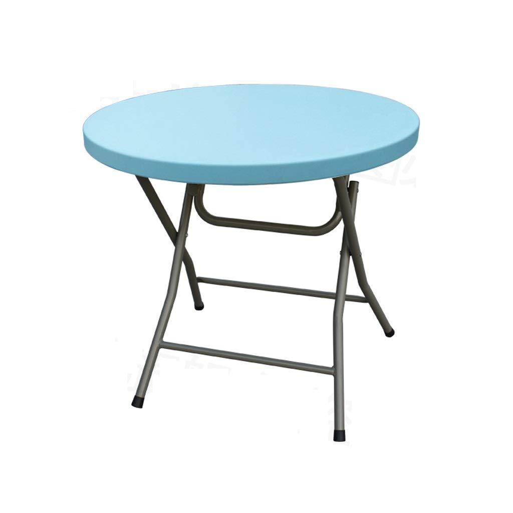 JSFQ Tavolo Pieghevole per la casa Leggero Tavolo da Pranzo Portatile Tavolo Pieghevole rossoondo per 2-4 Persone, 80 × 80 × 74 cm Tavolo Pieghevole (colore   Blu)