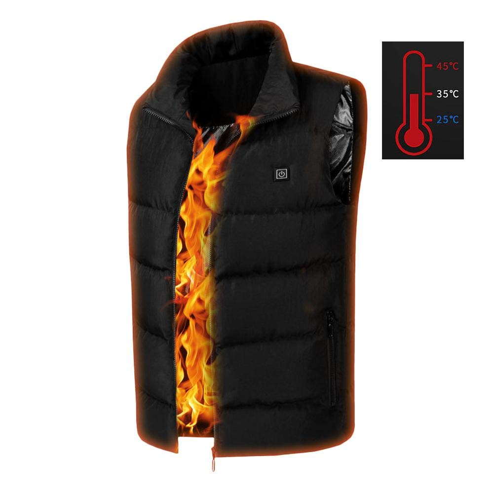 charging vest LeKing--Mens USB heating vest graphene carbon fiber heating