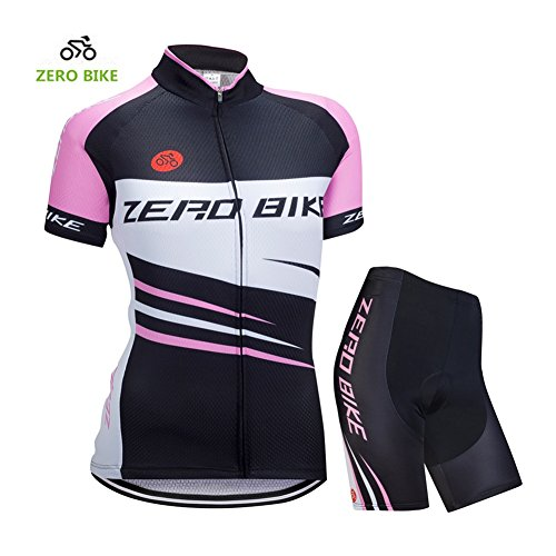 Women Outdoor Breathable Short Sleeve Cycling Jersey Short Pants - 1