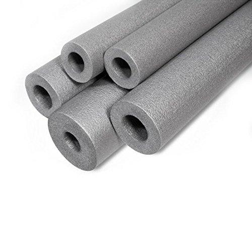 Gris Tuyau d'isolation en mousse 28 mm/20 mm de longueur –  1 metre solide Tube rond gels thermique acoustique Conduite d'eau Wrap ST28/20 Armar Trading LTD