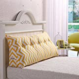 Vercart Sofa Bed Large Upholstered Headboard Filled Triangular Wedge Cushion Bed Backrest Positioning Support Pillow Reading Pillow Office Lumbar Pad with Removable Cover Mixed Color 79 Inches
