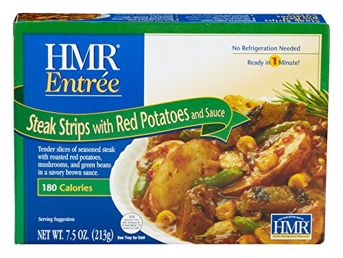 HMR Steak Strips with Red Potatoes and Sauce, 7.5 oz. Servings, 6 Count (Packaging Design May Vary)