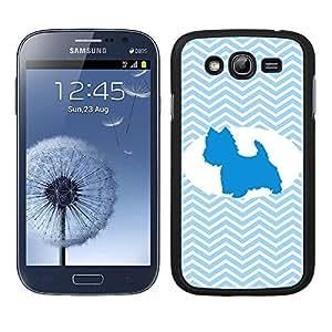 Funda carcasa TPU (Gel) para Samsung Galaxy Grand NEO diseño perro chihuahua estampado colores huellas borde negro