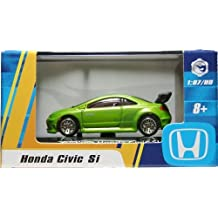 1:87 / HO SCALE HONDA CIVIC SI (GREEN) Hot Wheels Vehicle & Acrylic Display Case