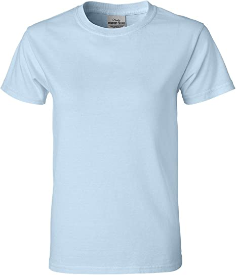 Comfort Colours Ladies Fitted Ringspun T-Shirt S//Sleeve Cotton Plain Soft Tee