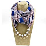 Pendant Scarf Necklace Bohemia Necklaces for Women Chiffon Scarves Pendant Jewelry Wrap Female Accessories 12 one Size
