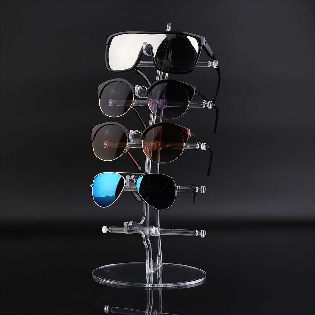 Sunnyday PMMA y aleaci/ón par 5 Gafas de Sol Gafas de Moda acr/ílico Mostrar Bastidor del Contador de Las Lentes del Soporte de exhibici/ón Transparente