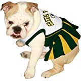 Pets First NFL Green Bay Packers Dog Cheerleader Dress, Small