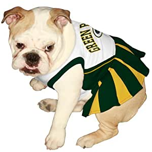 Pets First NFL Green Bay Packers Dog Cheerleader, X-Small