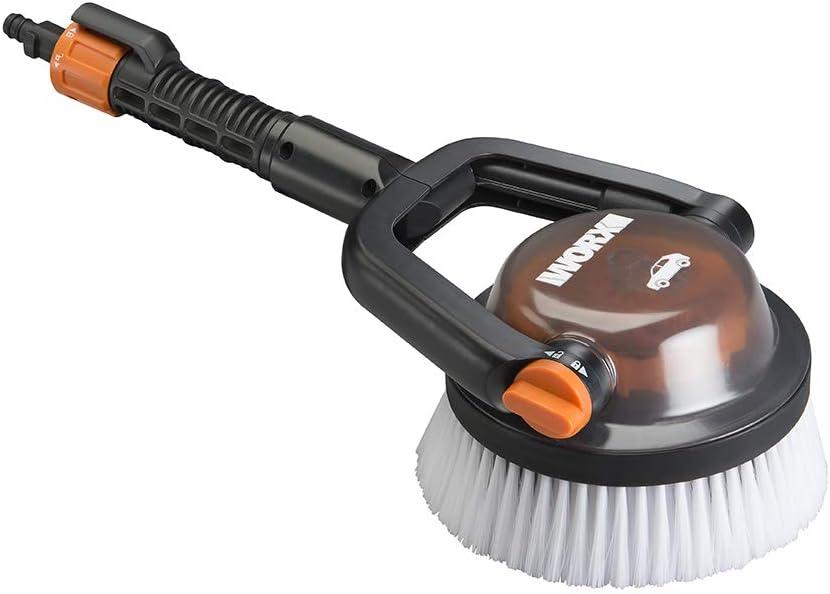 WORX Bristles, Quick Snap Connection WA1820 Hydroshot Adjustable Automotive Power Scrubber (Soft Brist, Black