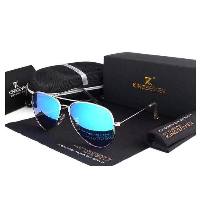 DLuxoMode Gafas de sol piloto aviador polarizadas, gafas aviador de espejo polarizadas, Gafas de