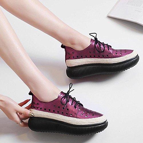 B UK3 Couleur Chaussures Chaussures Souples Chaussures Plates Sculptée EU35 Taille A Rondes CJC Décontractées Tête 6fqOdzOnw