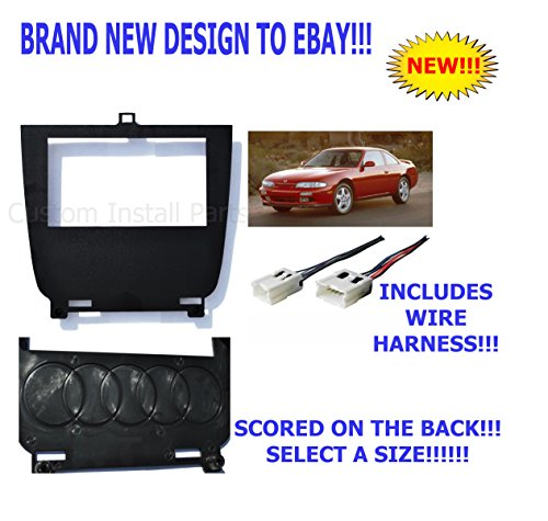 - Lower Single or Double Din Dash Kit Fitted for 95-98 Nissan 240SX S14 Multiple 52mm Gauge Options