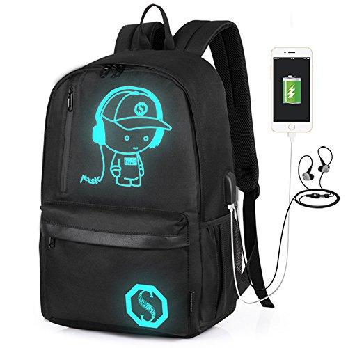 Laptop Backpack 15.6 inch, 20L Oxford Laptop Bag School Backpack w/Florescent Mark -