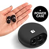 NOVA True Wireless Earbuds With Power Case - Mini Bluetooth Headphones & Charger - With Microphone for Women & Men