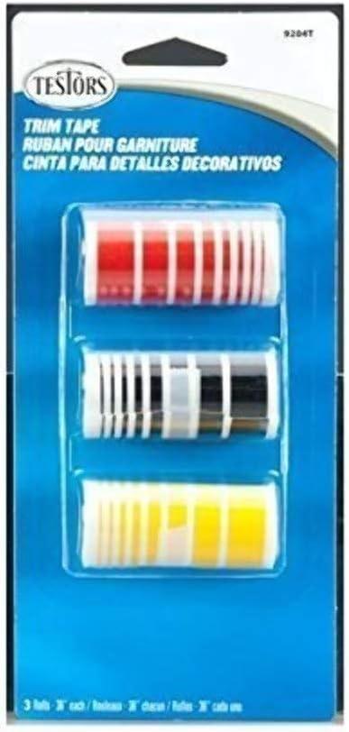 Testors Trim Tape Set Black//Red//Gold 9204T 3