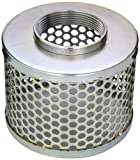 PT Coupling Carbon Steel Round Hole Pump Suction Strainer, 3''