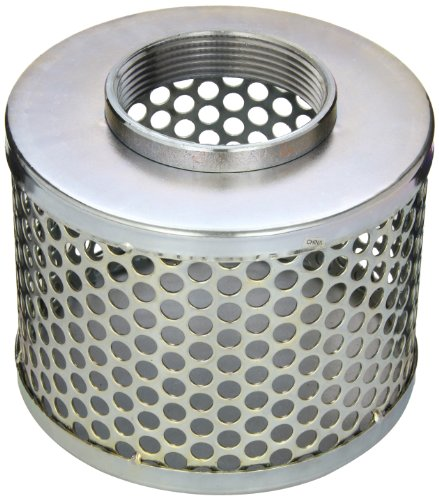 PT Coupling Carbon Steel  Round Hole Pump Suction Strainer, 3""
