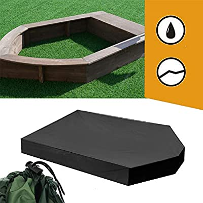 Protection Sandbox Cover Waterproof with Drawstring Sandbox Cover Tool Waterproof Sandpit Pool Cover: Toys & Games