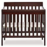 Mini Crib with Attached Changing Table Dream On Me 4 in 1 Aden Convertible Mini Crib, Espresso