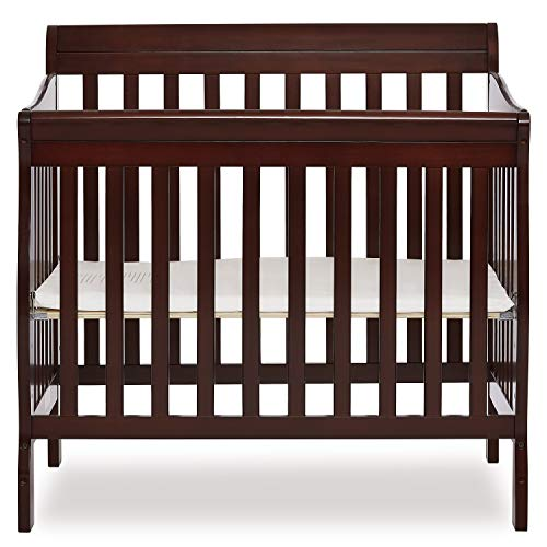 Infant Wood Crib - Dream On Me 4 in 1 Aden Convertible Mini Crib, Espresso