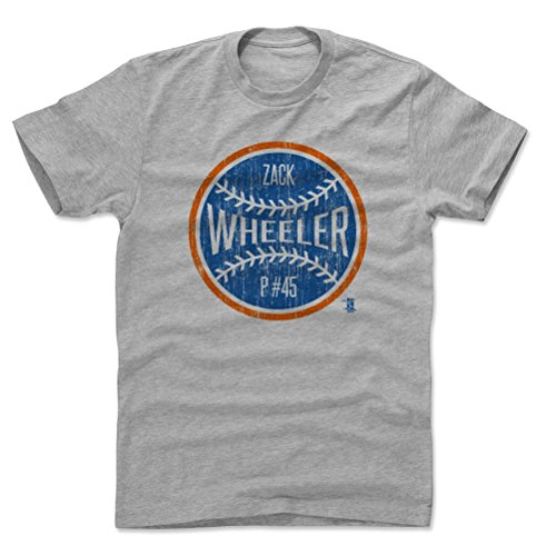 500 LEVEL Zack Wheeler Cotton Shirt Large Heather Gray - New York Baseball Men's Apparel - Zack Wheeler New York Ball B