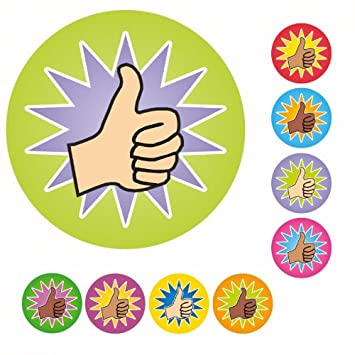 Thumbs up reward stickers