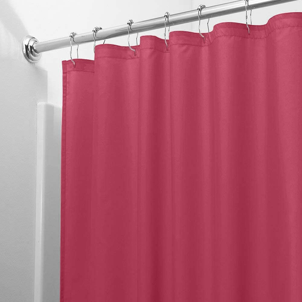 Burgundy DINY Bath Elements Heavy Duty Magnetized Shower Curtain Liner Mildew Resistant