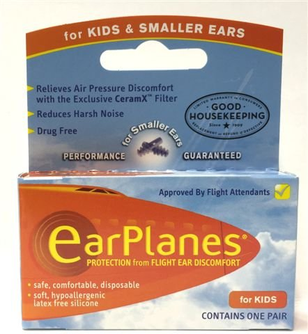 EarPlanes Ear Plugs Kid's Small Size 1 Pair