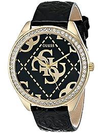 Guess Women's U0473L2 Black Leather Quartz Watch