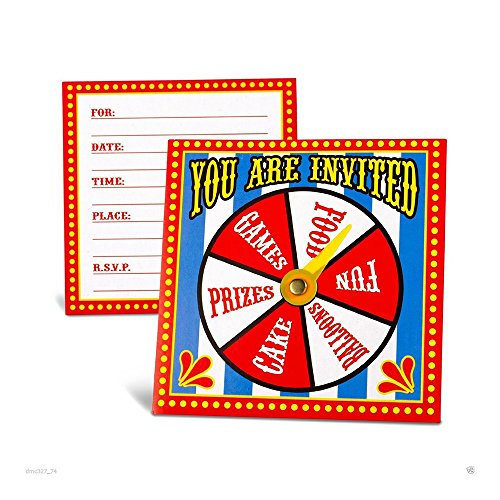 Everyday Decorations 12 CARNIVAL Big Top Tent CIRCUS SPINNER (Circus Tent Invitations)