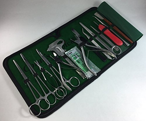 agging Kit Set 15 Pcs Hard Soft Freshwater Reef Stainless Steel Tools Zipper Case ()