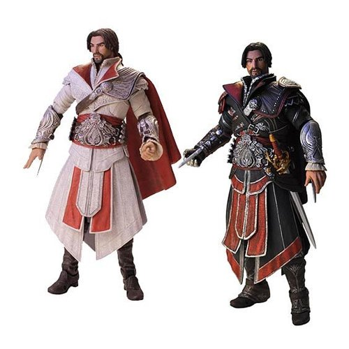 Assassins Creed 2 Costumes (Assassin's Creed Brotherhood Ezio Action Figure Set of 2)