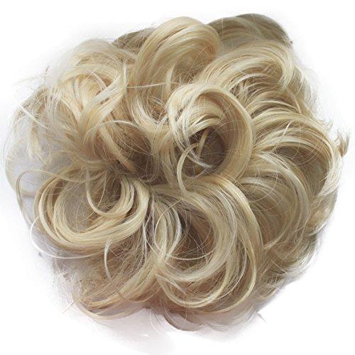 PRETTYSHOP Haargummi Haarteil Zopf Haarverdichtung Scrunchie Hochsteckfrisuren div. Farben G16A