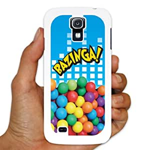 Samsung Galaxy S4 Case ? The Big Bang Theory ? Bazinga! ? White Plastic Case