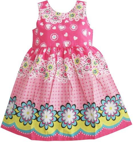 Sunny Fashion Girls Dress Pink Floral Print Sundress Size 12-18 Months -