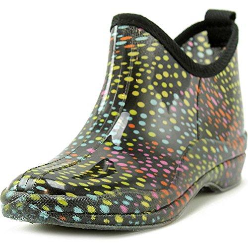 Womens Ankle Rainboots - Patterned Short Booties Multi jJYjyw6
